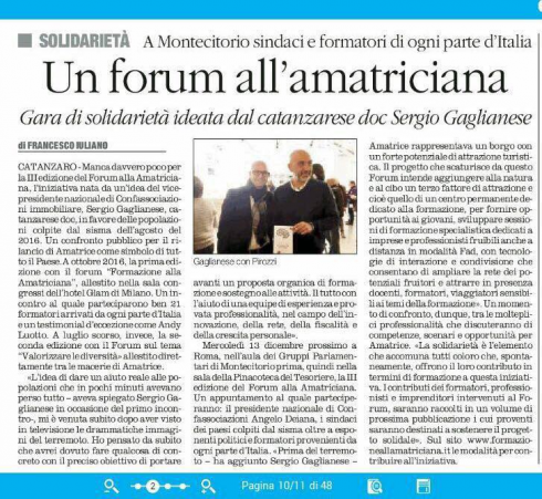 Un forum all'amatriciana